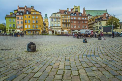 Plac Zamkowy (Castle Square), Warsaw, Poland.