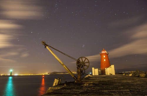 South Bull Wall and Poolbeg Lighthouse, Ringsend, Dublin Bay, Dublin, Ireland.