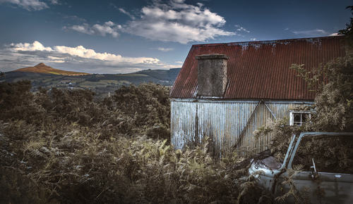 Looking south-east towards the Sugarloaf from an abandoned dwelling at Knockree, Co. Wicklow.