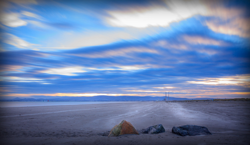 Dollymount Beech  at Sunset.