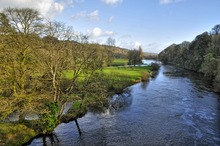 The River Blackwater as it makes its way through the village of Lismore, Co. Waterford, Ireland.