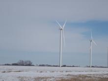 Wind turbines in Iowa
