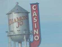 Roadside Water Tower & Sign in Iowa