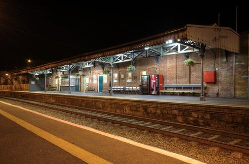 Rural Ireland Train Station.