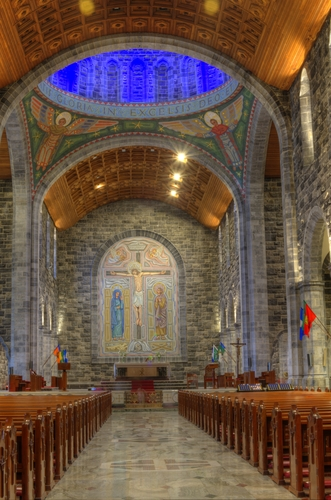 Magically stunning shot of the interior of Galway city Cathedral.
