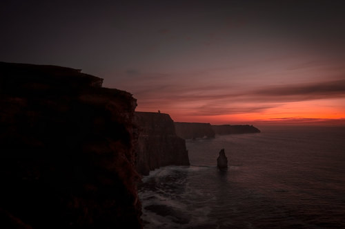 Beautiful Sunset Cliff of Moher, Co, Clare. Ireland