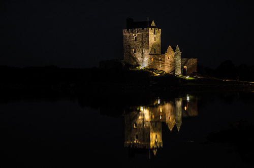 Dunguaire Castle at night
