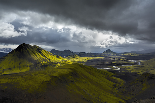 On Top of Bratthals, a Mountain in Iceland, Summer of 2013