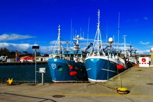 Trawlers tied up in Dunmore east harbour, Co. Waterford, Ireland.