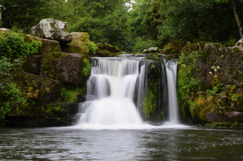 Cloonassy waterfall near Mullinavat in County Kilkenny, Ireland.