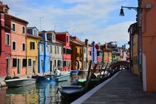 Burano's colorful houses.