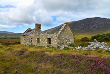 An old abandoned cottage at Bealanasally, Achill Island. There are many of these cottages throughout the Island.