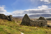 One of the many deserted houses at The Deserted Village on the slopes of Slievemore, Achill Island.