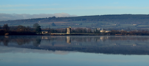 The River Suir & Rockets Castle, taken from the Mooncoin side of the river in County KIlkenny.