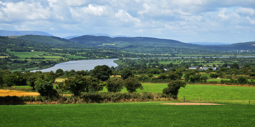 The river Suir from Ballygorey in Carrigeen County Kilkenny.