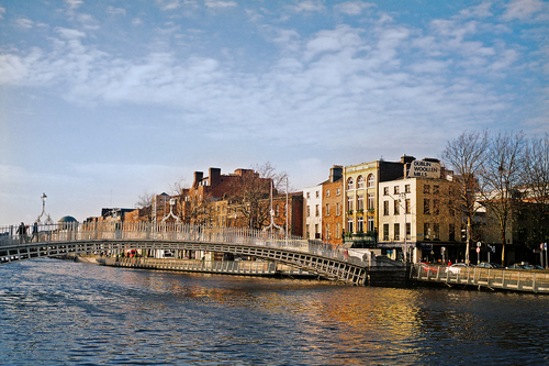 River Liffey in Dublin City Centre with Ha'penny Bridge