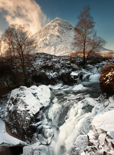 Buachaille Etive Mor in the Highlands of Scotland.