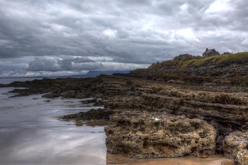 Sligo coast on cloudy day