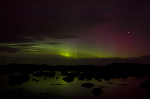 Aurora Borealis (Northern Lights) taken on Sunday 22/01/2012 Malin Head Co Donegal Ireland.