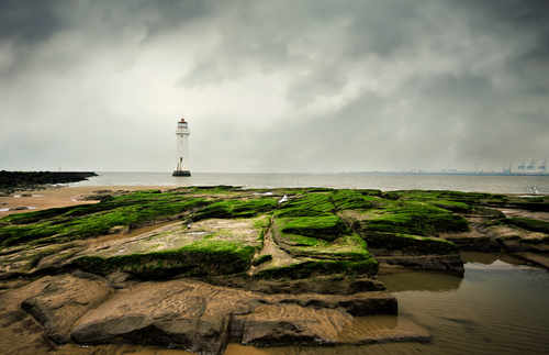 New Brighton Lighthouse, Merseyside.. UK