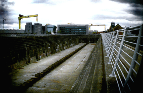 The launching pad of the legendary Titanic in Belfast docks.