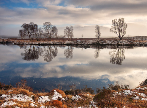 Loch ba on Rannoch mor in the highlands of Scotland