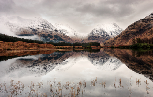 Lochan Urr in Glen Etive near Glencoe in the Scottish Highlands.