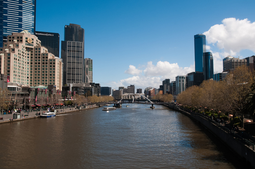 A popular vantage point in the city of Melbourne where the river and much of the city skyline can be viewed