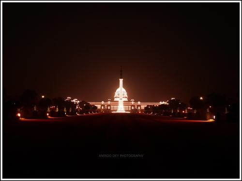 The President's Estate get lit up the evening of the Republic Day celebrations on January 26.