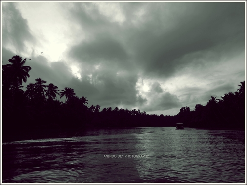 An idyllic boat ride in the backwaters.