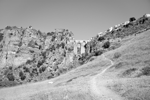 The 'New Bridge' in Ronda stands at 98m and is built with stone from the Tajo gorge below it.