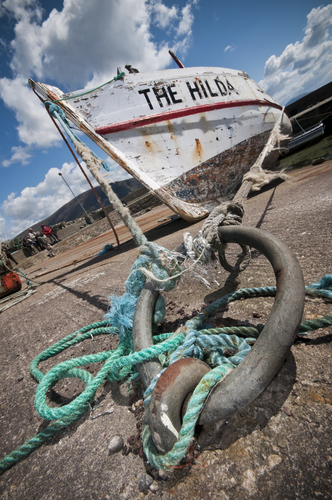 The Hilda, shot in a harbour on Achill Island.