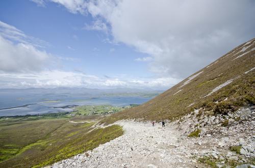 View from the climb on Westport's Croagh Patrick  www.benmillett.com